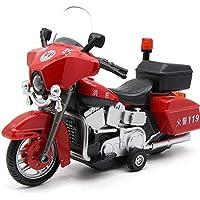 Markc Aleación de coche de la motocicleta Modelo sonido y la luz tira de los juguetes frescos y del coche de metal de coches de juguete de regalo de cumpleaños de Seguridad del Material Boy Forma infa
