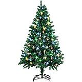 amzdeal 180cm Sapin de Noël - avec Épines Touffues et 4 Pieds en Métal, Sapin Artificiel de Noël avec 850 Branches pour Décoration de Maison, Hôtel, Boutique etc (Vert.)