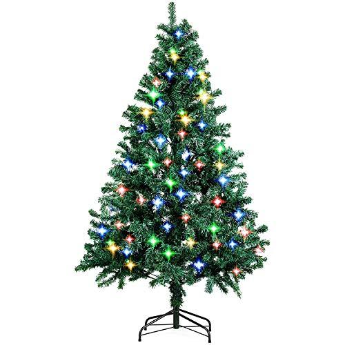 amzdeal 180cm Sapin de Noël - avec Épines Touffues et 4 Pieds en Métal, Sapin...