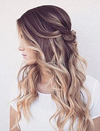 One piece clip in hair extensions dark brown to sandy blonde one piece clip in hair extensions dark brown to sandy blonde amazon beauty pmusecretfo Images
