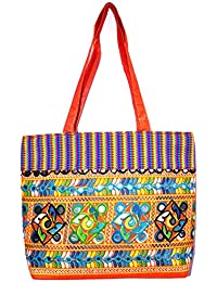 Great Gifts Rajasthani Mirror Work & Embroidered Mulit-Color Sling Bag For Ladies & Girls