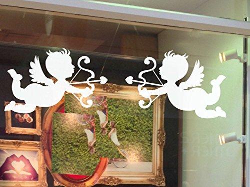 ische Fenster klammert Sich an, in 2Größen erhältlich. Valentinstag Fenster Aufkleber, für Weihnachten, weiß, S ()