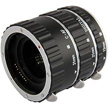 Tubo de extensión automático Macro para Canon (Anillo de aluminio plata) - tres tubos pieza - 13mm, 21mm, 31mm para Canon EOS 1000D 1100D D700 D650 600D 550D 500D 450D 400D 350D 300D 60D 50D 40D 30D 20D 10D 7D 5D 5D Mk II 1D 1Ds 1D Mk II 1Ds Mk II 1D Mk II N 1D Mk III 1Ds Mk III etc.