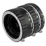 Automatik Zwischenringe (Silber mit Alu-Bajonett Version) 3-teilig 31mm, 21mm & 13mm für Makrofotographie passend zu Canon EF / EF-S