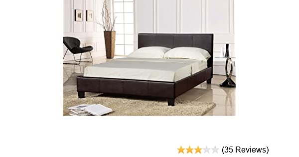 352625a3f6fe Comfy Living Storage Bed Faux Leather 5ft King Size Ottoman Prado Chocolate  Brown + Tanya Mattress: Amazon.co.uk: Kitchen & Home