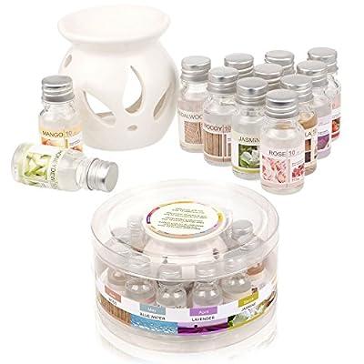 Ceramic Oil Burner Gift Set With 12 Fragrance Oils