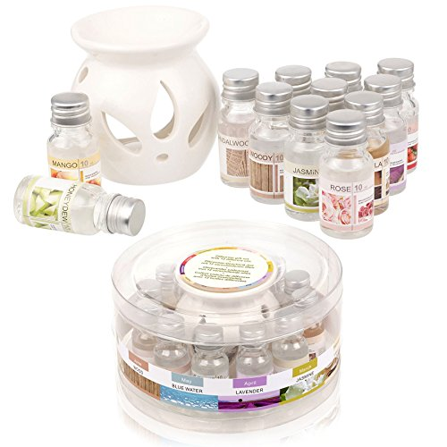 Ceramic-Oil-Burner-Gift-Set-With-12-Fragrance-Oils