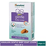 Himalaya Gentle Baby Soap, 125gm (White, 100179) -Pack of 3