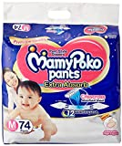#1: MamyPoko Extra Absorb Medium Size Pants (74 Count)