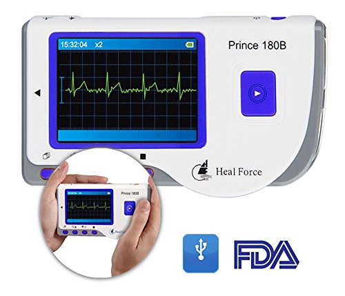 Heal Force Prince 180-B Easy Handheld Portable ECG Monitor, Software and USB Cable