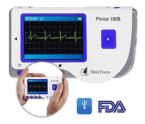 ekg tragbar Heal Force Prince 180B EKG-Überwachungsgerät / Monitor, tragbar, mit Software und USB-Kabel