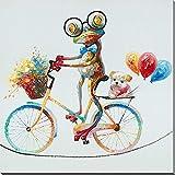 WAHu Arte Pintura Mural Foto Rana Pintura Creativa Pintada A Mano Animal Pintura Al óLeo Abstracta Personalidad Moderna DecoracióN del Hogar Photo,Handdrawnanimals,40 * 40CM