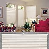 Shiny Home Plissee Jalousie verspannt, klemmfix Faltrollo für Fenster ohne bohren, 100 cm breit, 100 x 130 cm, Beige