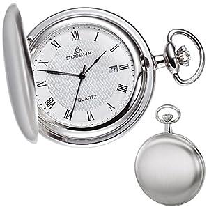 Dugena – 4288041 – Taschenuhr – weiß/silber