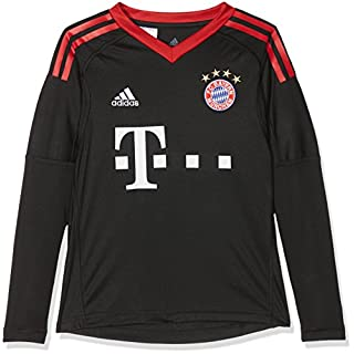 ADIDAS Kinder FC Bayern Torwart Heim Langarm-Trikot, Black/FCB True Red/White, 140