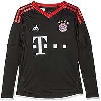 adidas FCB H GK JSY y Camiseta de Equipación Línea FC Bayern de Munich, Niños, Negro (Rojfcb/Blanco), 128