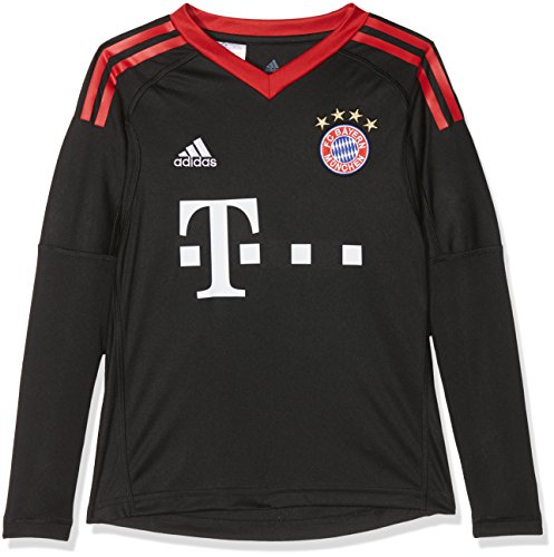 adidas Kinder FC Bayern Torwart Heim Langarm-Trikot, Black/FCB True Red/White, 152