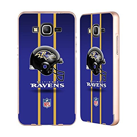 Officiel NFL Casque Baltimore Ravens Logo Or Étui Coque Aluminium Bumper Slider pour Samsung Galaxy Grand Prime