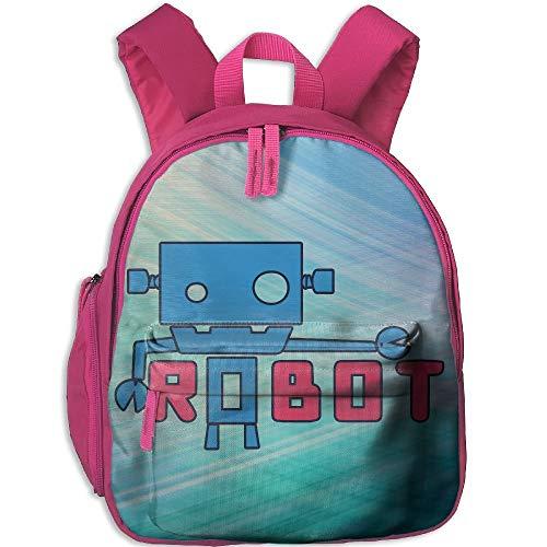 Kindergarten Boys Girls Backpack Robot School Bag
