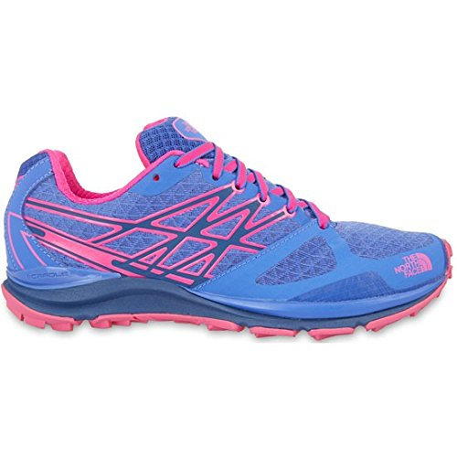 The North Face W Ultra Cardiac, Mujer Zapatillas de trail running, Azul / Rosa, 40