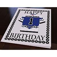 """MyShirt123 tarjetas de felicitación de cumpleaños de Jersey, diseño con texto en inglés """"Helite Hockey"""" – cualquier nombre, cualquier número, cualquier espuma, personalización de la flora, Milton Keynes Lightning"""