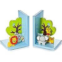 Sujetalibros infantiles y bebé con Safari animales para la habitación de niños y bebés