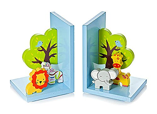 3d-safari-themed-wooden-childrens-animal-bookends-for-boys-or-girls-nursery-or-bedroom