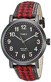 Timex 'Originals' Quartz Brass and Leather Automatic Watch, Color:Black (Model: TW2P98900ZA)