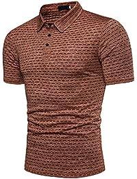 6d7fb2d70c51c Hombre Polos Camisa Polo Masculina Verano Hombre Polos de Manga Corta de  Negocios Camisetas sólidas de Estilo Africano Hombre…