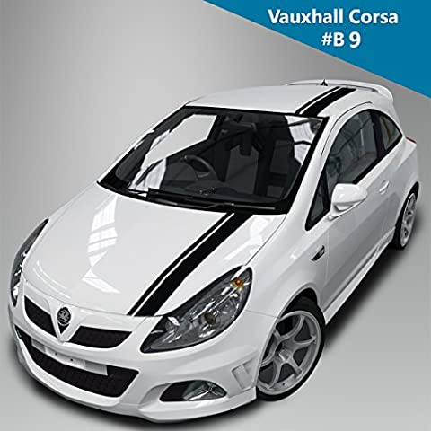 Vauxhall Corsa Kit For Bonnet Roof BooT Side Racing Stripes Decal Graphics /Tuning Car