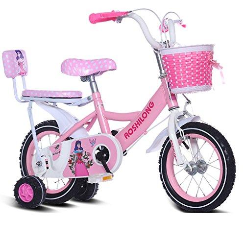 Guo shop- Kind Fold Fahrrad 3-6-8 Jahre Old Baby Kinderwagen 12 Zoll 14 Zoll 16 Zoll 18 Zoll Bike Kinderfahrräder ( Farbe : Pink 2 , größe : 18Inch )