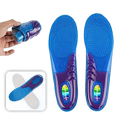 CrazyGadget® Orthotic Arch Support Comfort Foot Massage Gel Heel Cushion Comfort 746582228752Silicone Shoe Trainer Boots Insoles Pad (1 Pair) - Unisex - inexpensive UK light shop.