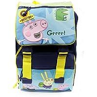 Peppa Pig George & Mr Dinosaur Backpack School Bag Rucksack Expandable