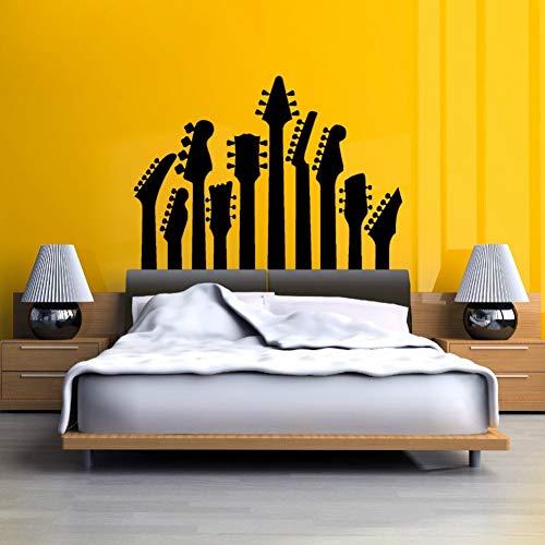 Silhouette A-linie Rock (Kunst vinyl schlafzimmer dekoration wandbild gitarre musik serie wandaufkleber rock silhouette wandtattoos)