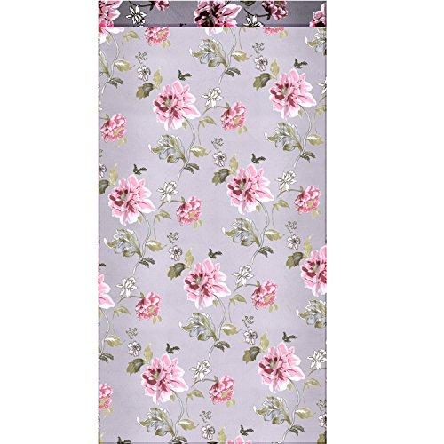 Elegante Tulle floreale Voile tenda pura pannello per parete porta