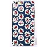 Phone Kandy® Bastante floral de la vendimia Caso de Shell duro de la piel y la pantalla del protector para carcasa funda (iPhone 6 6s, Azul provence rose)