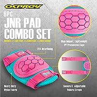 Osprey Kids Skate Pad Set, Protective 6 Piece Elbow, Knee and Wrist BMX Skateboard Pads