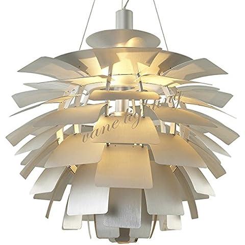 FULL Semplice Creativo lampada a sospensione per la decorazione, casa, bar, ristorante,club, etc in alluminio Pigna 48cm , silver, senza