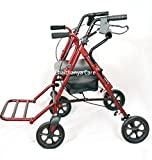 ME Wheel Rollator With Footrest Folable & Seat Walker (Red Color)