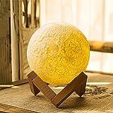 Lámpara de Moonlight, E-link Noche Luz 3d impresión Moonscape lámpara Lunar USB carga luz nocturna, control táctil Luminosidad dos tonos