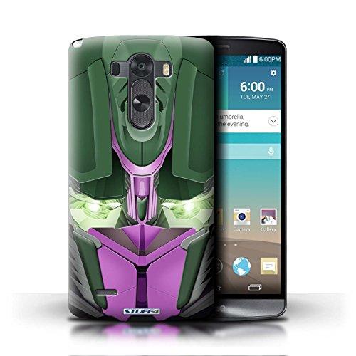 Kobalt® Imprimé Etui / Coque pour LG G3/D850/D855 / Mega-Bot Bleu conception / Série Robots Opta-Bot Rose