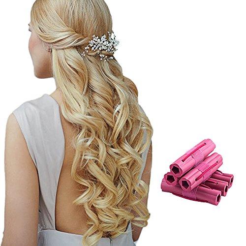 Lockenwickler Roller Haar Roller Hair Roller Set Soft & Comfortable Hair Curlers Hair Curling Styling Twist Tool DIY Kosmetik Tools fur Weiblich,6 Stück