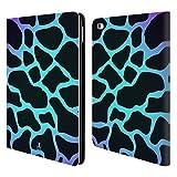 Head Case Designs Giraffe Zyan Verrückte Drucke Brieftasche Handyhülle aus Leder für iPad Air 2 (2014)
