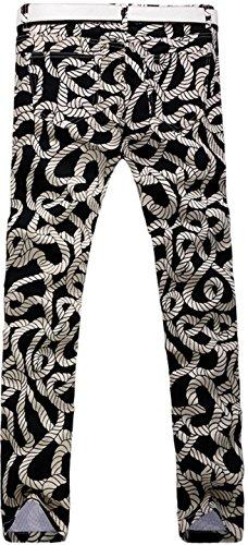 jeansian Herren Mode kausale Hose Jeans MJB048 Khaki