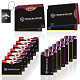 19 Pack 14+4 Protezione RFID 1 tag bagagli for Custodie per Carta d'Identità, Carte EC, Carta d'Identità Elettronica, Passaporto, 100% di sicurezza contro il furto di dati personali