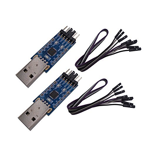 DSD TECH 2PCS USB zu TTL Seriell Adapter mit CP2102 Chip Kompatibel mit Windows 7, 8, 10, Linux, Mac OS X