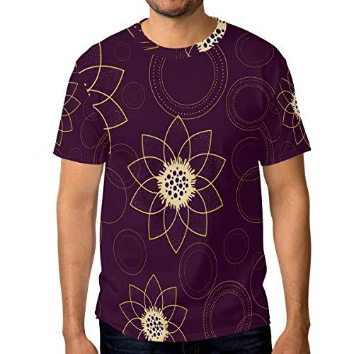 T-Shirt für Männer Jungen Psychedelic Flower Ring Benutzerdefinierte Kurzarm -