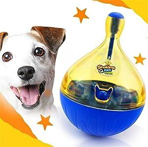 Uni Meilleur Chien Chat interactif Culbuto Jouets intelligent IQ Balle indestructible pour chien Balle Distributeur de nourriture