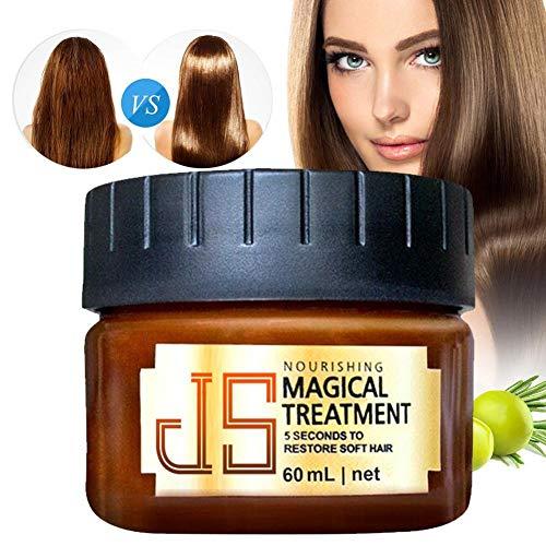 Maschera per Capelli Deep Conditioner, Riparazione di Radici di Capelli molecolari, 60ML Magic Hair Treatment per Capelli secchi o danneggiati, 5 Secondi per ripristinare i Capelli Morbidi