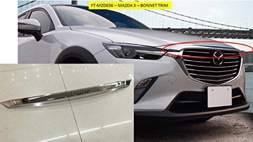 OMTEC Vorder Motorhaube Kapuze Lünette Trim verchromtem abs-kunststoff–yt-mzd036 (Mazda 3 Motorhaube)